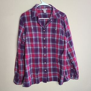 Duluth Trading Co. Plaid Button Down